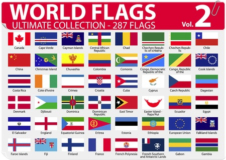 World Flags - Ultimate Collection - 287 flags - Volume 2 Stock Vector - 13250798