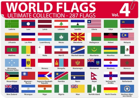 World Flags - Ultimate Collection - 287 flags - Volume 4 Illustration