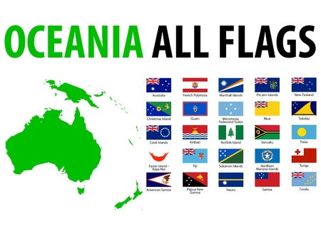 Oceania All Flags Stock Vector - 13250781