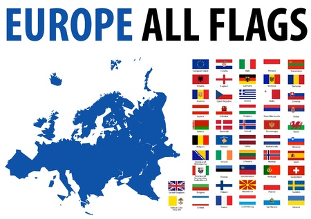 Europe All Flags Stock Vector - 13250802