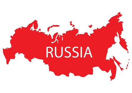 russland karte: Russland Karte Illustration