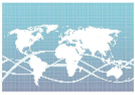 Dot Style World Map With Continents Stock Vector - 13264854