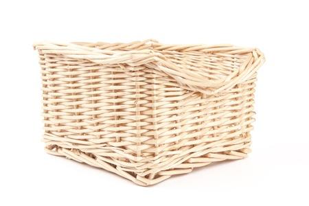 empty wooden basket photo