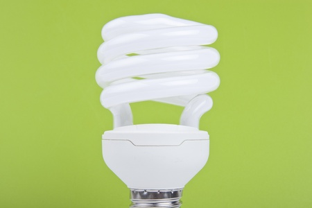 bulb on green background photo