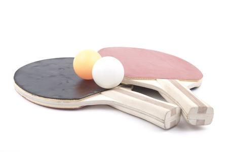 ping pong: Ping pong paddles and balls