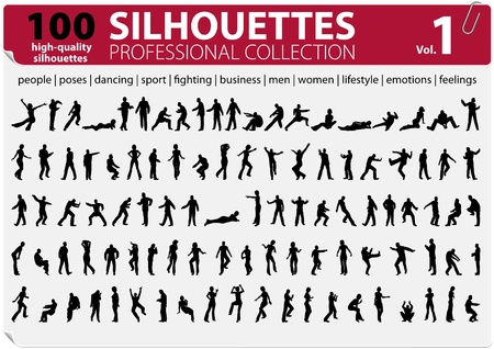 100 Silhouettes Professional Collection Vol  1 Stock Vector - 13439420