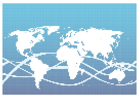 Dot Style World Map With Continents Stock Vector - 13439431