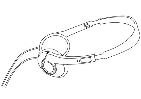 vector illustration of music headphones  Vector