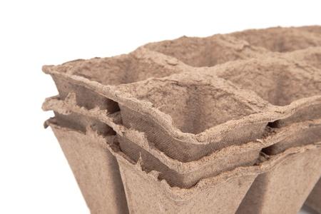 turf: turf potten Stockfoto
