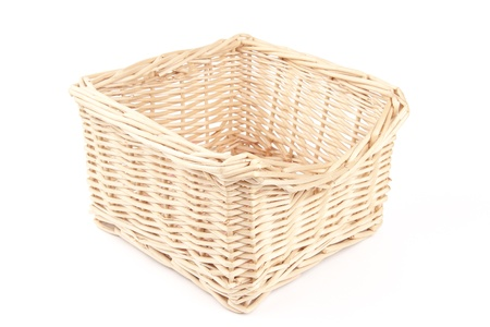 empty wooden basket photo