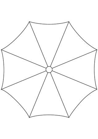 umbrella on white background  vector illustration