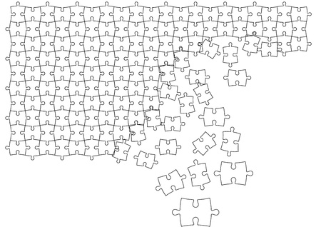 Vector Puzzles Stock Vector - 13546717