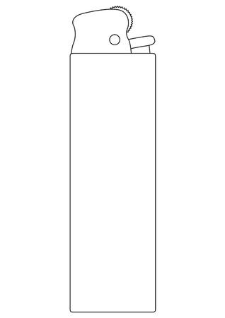 Cigarette lighter  Vector illustration Stock Vector - 13546673