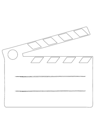 Film clap board cinema - vector illustration Stock Vector - 13546672