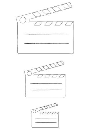 clap board: Cine aplaudir bordo de cine - ilustraci�n vectorial