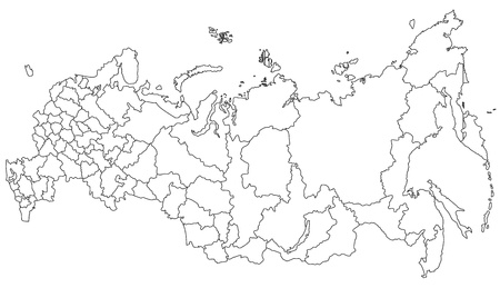 Map of Russia Stok Fotoğraf - 13546719