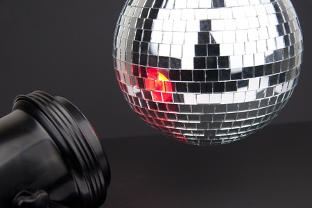 disco ball with small mirrors on dark background Stock Photo - 13546741