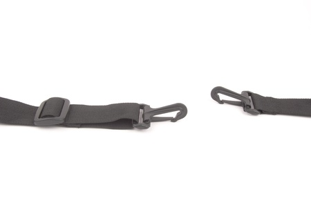 black plastic buckle on strap photo