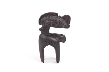 hand carved: Hand carved Kenyan statue Stock Photo