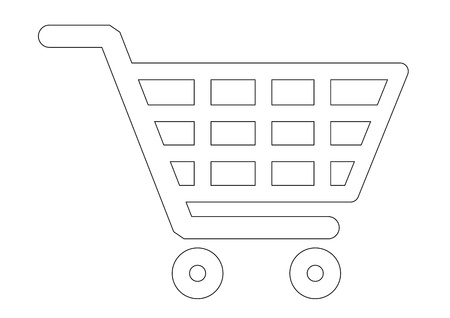 e cart: Shopping basket icons Illustration