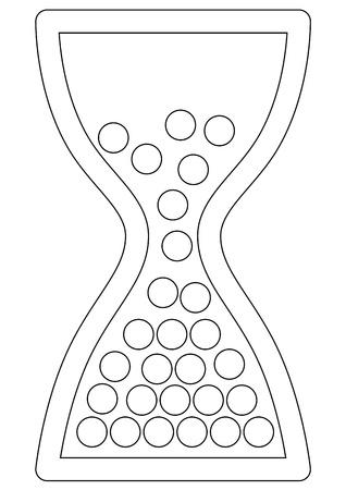 sandglass: Vector sandglass illustration