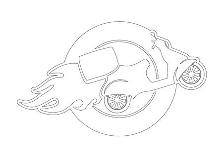 Scooter Illustration illustration