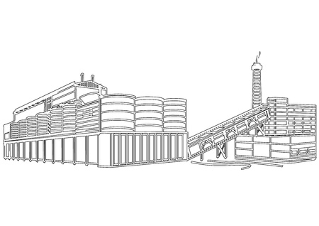 Contour Building Stock Vector - 13711681