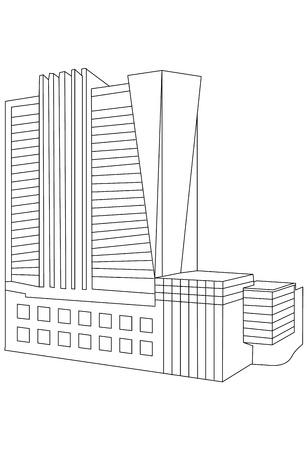 Contour Building Stock Vector - 13711687