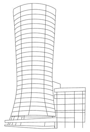 Contour Building Stock Vector - 13711689