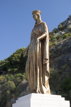 Virgin Mary Golden Statue Stock Photo - 14393329