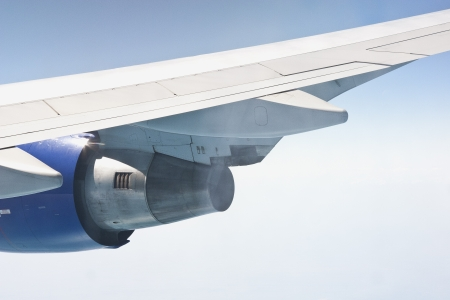 View of jet plane wing Stock Photo - 14393386