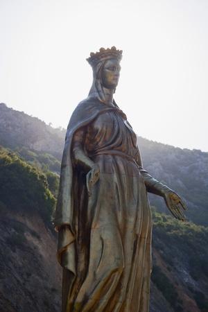 Virgin Mary Golden Statue Stock Photo - 14699716