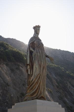 jungfrau maria: Virgin Mary Goldene Statue