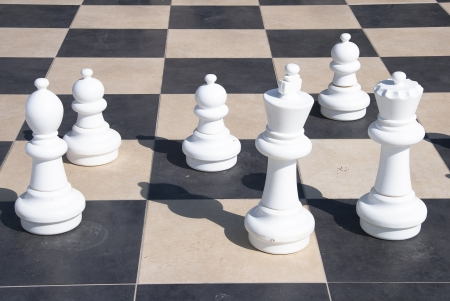 Large chess games in the park photo
