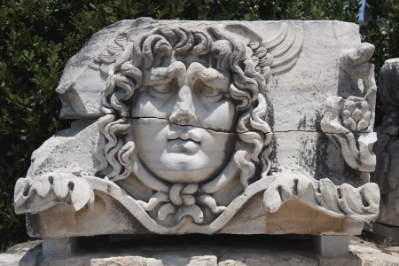 grotesque: Medusa Gorgon in Apollo Temple