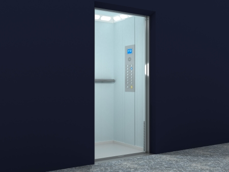 Modern Elevator Inter and Exter Stock Photo - 14991887