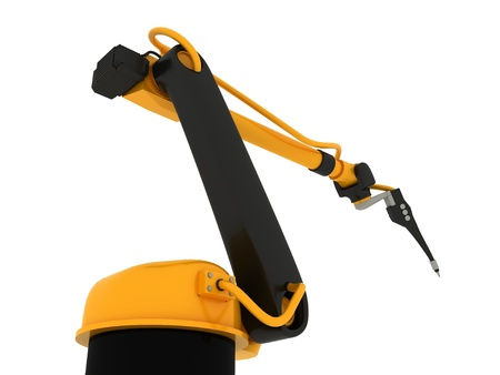 Industrial Robotic Arm Isolated Stock Photo - 14991631