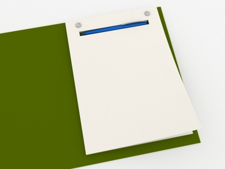 Notebook isolated Stock Photo - 15615762