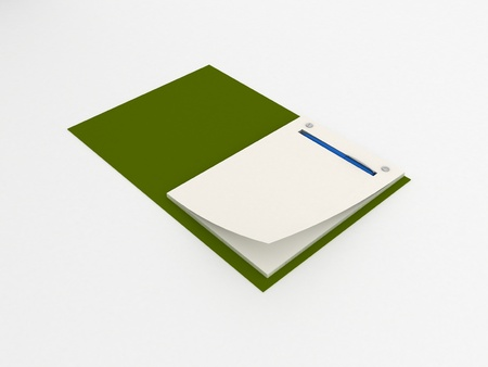 Notebook isolated Stock Photo - 15615763