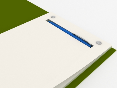 Notebook isolated Stock Photo - 15703504