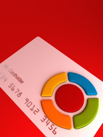 debet: Credit card - remote with buttons