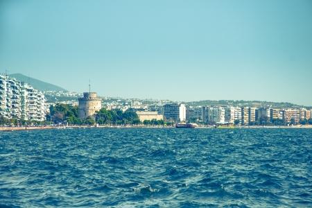 Main view on Thessaloniki embankment