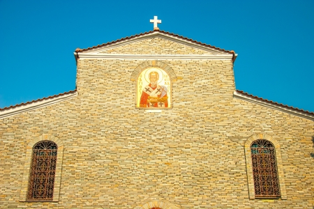 kefallinia: Old Church at mountain town Litichoro
