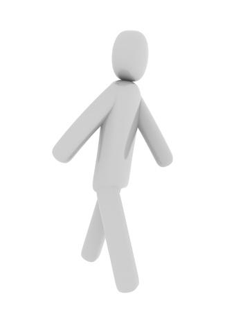 pictogramm: Gray man walking