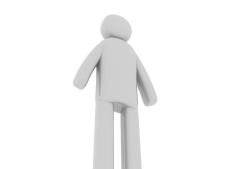 pictogramm: Gray man standing Stock Photo