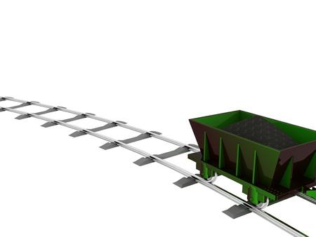 Metallic Trolley with Coal