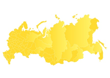 map of the Russian Federation Stock Vector - 17011892