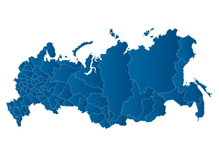 european maps: map of the Russian Federation