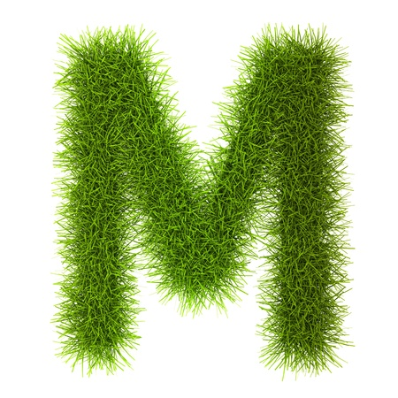 cyrillic: Grass style Cyrillic Alphabet Letters and Numbers