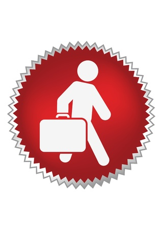 Passenger with luggage moving forward Stock Vector - 17578187